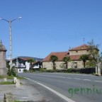 Carretera general a su paso por Alceda