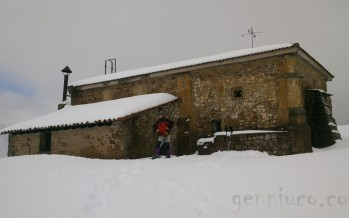 Excursión a la ermita del Moral un día de nieve