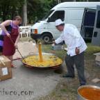 Preparación de la paella