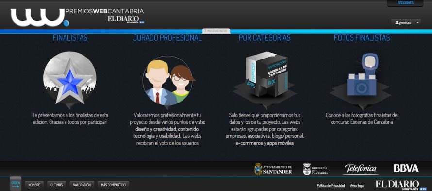 """Somos finalistas en el certamen """"Premios Web Cantabria 2015"""" en la categoría de mejor Blog"""